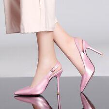 Women Pointy Toe Court Shoes Patent Leather Slingback OL Shoes Sandals Plus Sz