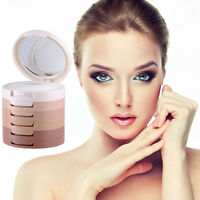 2Pcs 5 Colors Makeup Face Pressed Powder Contour Shading Concealer Palette Lady