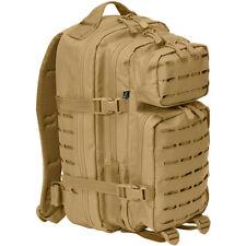 BRANDIT US MILITARY PATROL COMBAT ARMY BACKPACK COOPER LASERCUT RUCKSACK CAMEL