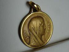 Large Religion Medaille AVE Maria Lourdes Signed Lasserre MR 432