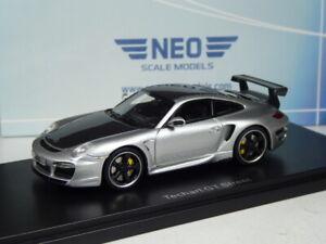 (KI-05-23) Neo Scale Models Porsche 911 Techart Gt Street Plata 2009 1:43 Ovp
