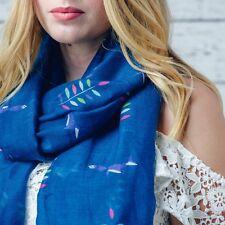 F & J Collection - Hazel  & Pip Crevan Blue scarf