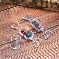 10Pcs New Cute Clear Candy Shape Earrings Necklace Ring Storage Box Jewelry BoDS