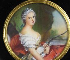 Miniaturmalerei auf Bein Miniature Lupenmalerei Madame Adélaïde