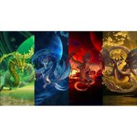 5D DIY Full Drill Diamond Painting Dragon Cross Stitch Embroidery Mosaic #G