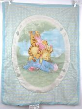 Vintage Winnie Pooh Baby Crib Comforter Blanket Sunny Days Chase Clouds Away