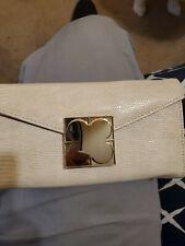Liz Claiborne White Leather Snakeskin Wallet