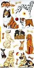 DOG DAZE Sticko Stickers - Pets Puppies Dalmatian Collie Alsatian Bulldog Hound