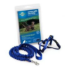 PetSafe COME WITH ME KITTY Brand New Cat Harness and Bungee Leash Blue LARGE
