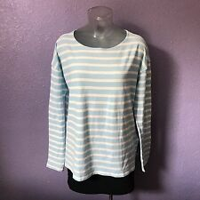 J. CREW Blue White Deck Striped Soft Stretch Long Sleeve Shirt Top XS CUTE