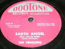 Dootone Classic Doo Wop 78 rpm Record EARTH ANGEL The Penguins 54 Maroon Labels