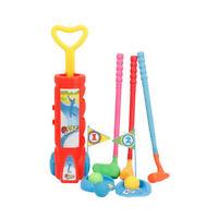 Kids Golf Set Plastic Mini Putter Club Caddy Balls Summer Fun Play Sports