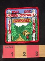 Vtg 1970 Huron District Detroit Area Council CAMPOREE BSA Boy Scouts Patch C80X