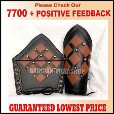 Bracers Ancient  Armor Leather Arm Guard Medieval Roman Vambraces Pair