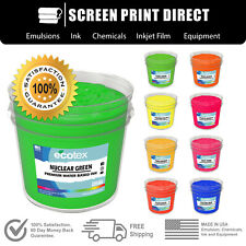 Ecotex® Fluorescent Plastisol Ink For Screen Printing  - All Sizes/ 8 Colors