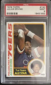 1978 Topps, #130, HOF Julius Erving, Philadelphia 76ers, PSA 9 MINT, AMAZING!
