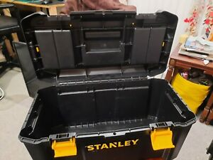 Stanley 19 inch Toolbox with Plastic Latches - Black/Yellow