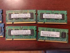 Lot of (6) 512MB PC2 DDR2 Sodimm Laptop Ram Used Working See Description for nfo