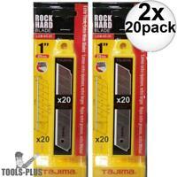 Tajima LCB-65-20B Replacement Blades for Tajima Rock Hard Aluminist Knives 20pc