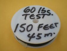 STAINLESS STEEL WIRE LEADER 150 FEET (45m.) 60 lbs TEST 1X7 STRAND,COATED, BLACK