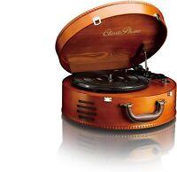 Lenco Classic Phono TT-34 Maletín Tocadiscos Vintage En Madera Nogal