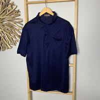 Dioncarlo Size L Dark Blue Polo Shirt Men's Mercerised Cotton