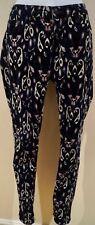 RAG & BONE JEAN Blue Black Pink Abstract Print Cord Corduroy Skinny Trousers 28