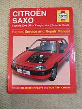 CITROEN SAXO HAYNES MANUAL 1996 to 2001 N to X REGISTRATION PETROL & DIESEL