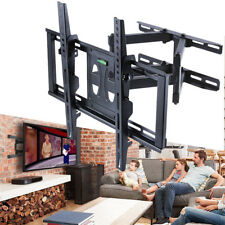 "Heavy Duty Double Arm TV Wall Bracket Tilt Swivel 32 -55"" Extendable Living Room"