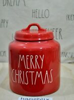 Rae Dunn MERRY CHRISTMAS Red Large Chubby Canister NEW 2019