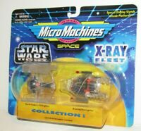 Micro Machines STAR WARS  X-Ray Fleet - Darth Vader Fighter & A-wing Figure Toy
