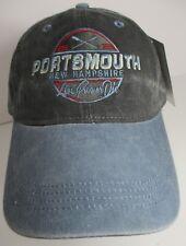 Portsmouth New Hampshire Hat Cap Prefade Prewash USA Embroidery Unisex New