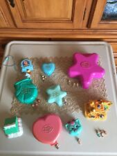 9 VinTage Bluebird Polly Pocket Compacts 17 Dolls Houses Disney Aladdin Lot