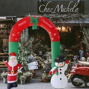 Arco Gonfiabile Natalizio con Babbo Natale e Pupazzo di Neve 250x200cm sus