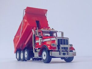 1:50 First Gear Peterbilt 367 RED Dump Truck Tri Axle Custom