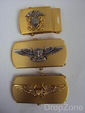 NEW US Navy Officer, Pilot or Air Warfare Brass Buckle for Canvas Belt