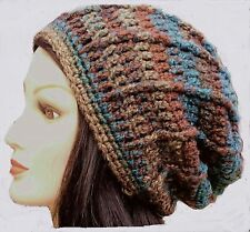 CROCHET SLOUCHY BEANIE oversize baggy festival lady men hat knit hippie ski 6dlt