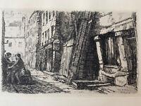 Charles Heyman gravure eau forte etching Rue Saint Medard Paris 5 Ard