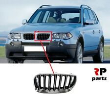 FOR BMW X3 E83 2003-2006 NEW FRONT BUMPER KIDNEY GRILLE CHROME/BLACK LEFT N/S