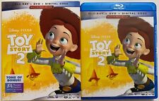 DISNEY PIXAR TOY STORY 2 BLU RAY DVD 2 DISC SET + SLIPCOVER SLEEVE FREE SHIPPING