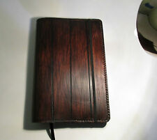 Personalized Custom Leather Journal With A wood Appearance Handmade