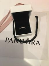 Genuine Pandora 925 Silver String Of Beads Ring. Size 50. NEW!