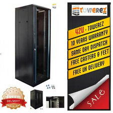 server rack  42U Server cabinet 600 (W) x 800 (D) x 2000 (H) Glass Front Door