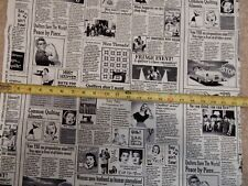 Newspaper sewing sew quilt quilting news C9699 durable cotton novelty Fabric