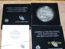 2014P Great Sand Dunes 5 oz Silver America The Beautiful ATB Mint Box &COA