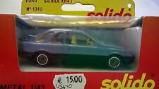 SOLIDO 1:43 DIE CAST AUTO FORD SIERRA XR4 I ART 1340 USATO