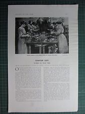 1917 WWI WW1 PRINT WOMEN COBBLERS AT THE SALVAGE FACTORY FOR DISUSED ARMY BOOTS
