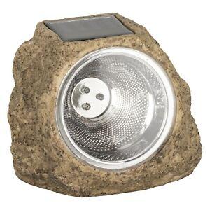 Solar Powered Garden Rock Light LED Spotlight