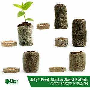 Jiffy 7 Peat Pellets Seed Propagation Compost Plug Hydroponic Organic