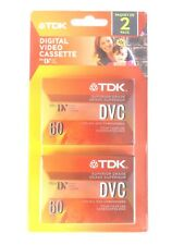 TDK Mini DV Tapes Digital Video Cassette 2 Pack NEW Superior Grade DVM60ME